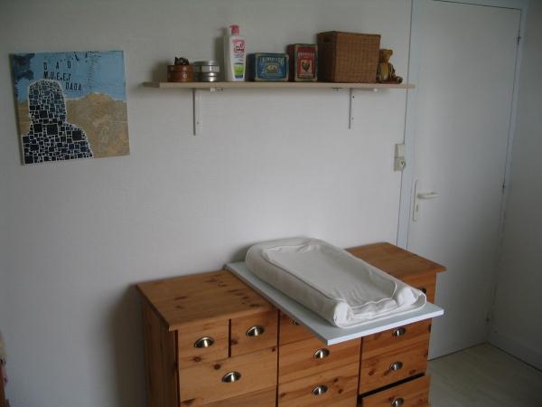 Armorique et bouts d ficelle customisation de salle - Table a langer pour salle de bain ...